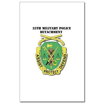 35MPD - M01 - 02 - DUI - 35th Military Police Detachment with text - Mini Poster Print