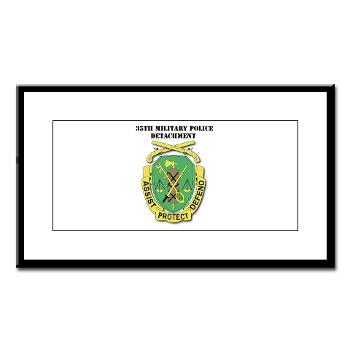 35MPD - M01 - 02 - DUI - 35th Military Police Detachment with text - Small Framed Print