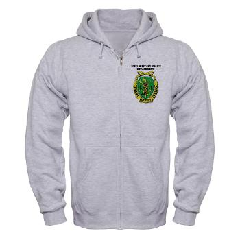 35MPD - A01 - 03 - DUI - 35th Military Police Detachment with text - Zip Hoodie