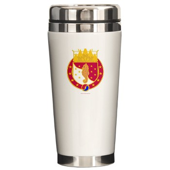 36EB - M01 - 03 - DUI - 36th Engineer Brigade with Text Ceramic Travel Mug