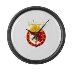 36EB - M01 - 03 - DUI - 36th Engineer Brigade Large Wall Clock