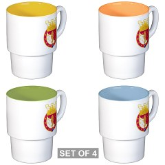 36EB - M01 - 03 - DUI - 36th Engineer Brigade Stackable Mug Set (4 mugs)