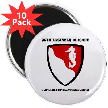 "36EBHHC - M01 - 01 - DUI - Headquarter and Headquarters Company with Text 2.25"" Magnet (10 pack)"