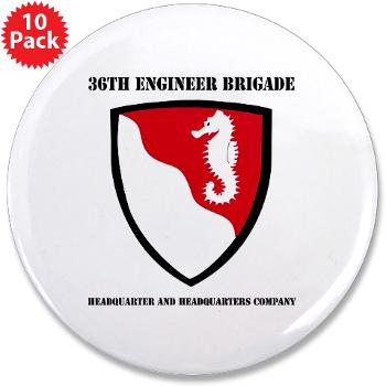 "36EBHHC - M01 - 01 - DUI - Headquarter and Headquarters Company with Text 3.5"" Button (10 pack)"