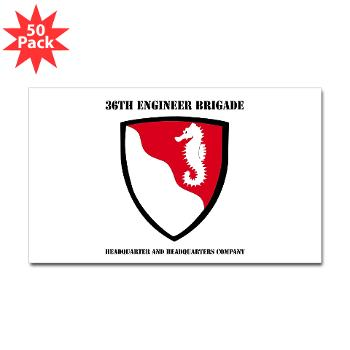 36EBHHC - M01 - 01 - DUI - Headquarter and Headquarters Company with Text Sticker (Rectangle 50 pk)