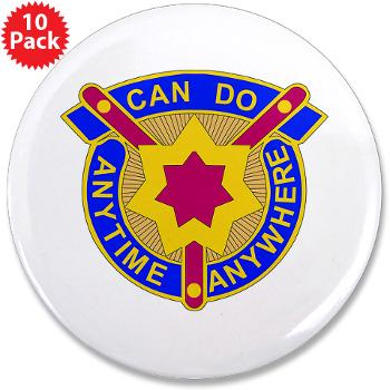 "377SC - M01 - 01 - DUI - 377th Sustainment Command - 3.5"" Button (10 pack)"