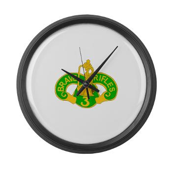 3ACR - M01 - 03 - DUI - 3rd Armored Cavalry Regiment - Large Wall Clock