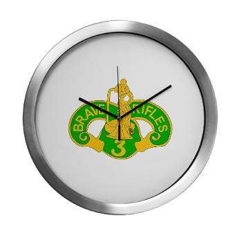 3ACR - M01 - 03 - DUI - 3rd Armored Cavalry Regiment - Modern Wall Clock
