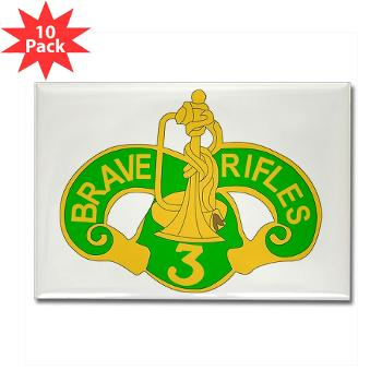 3ACR - M01 - 01 - DUI - 3rd Armored Cavalry Regiment - Rectangle Magnet (10 pack)