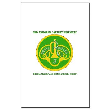 3ACRHHT - M01 - 02 - DUI - Headquarters and Headquarters Troop with text - Mini Poster Print