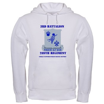 3B289RCSCSS - A01 - 03 - DUI - 3rd Battalion - 289th Regiment (CS/CSS) with Text Hooded Sweatshirt