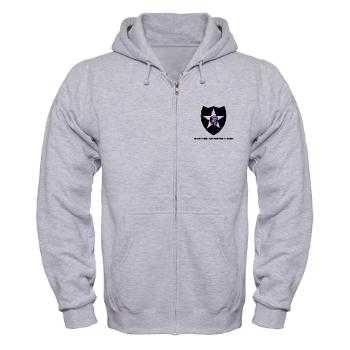 3B2ID - A01 - 03 - 3rd Brigade, 2nd Infantry Division with Text - Zip Hoodie