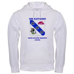 3B309IR - A01 - 03 - DUI - 3rd Battalion - 309th Infantry Regiment (CS/CSS) with Text Hooded Sweatshirt