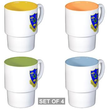 3B362AR - M01 - 03 - DUI - 3rd Bn - 362nd Armor Regiment Stackable Mug Set (4 mugs)