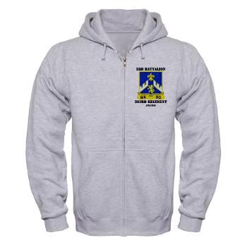 3B363RCSCSS - A01 - 03 - DUI - 3rd Battalion - 363rd Regiment (CS/CSS) with Text - Zip Hoodie