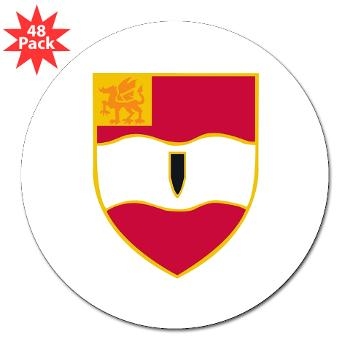 "3B82FAR - M01 - 01 - DUI - 3rd Bn - 82nd FA Regt - 3"" Lapel Sticker (48 pk)"