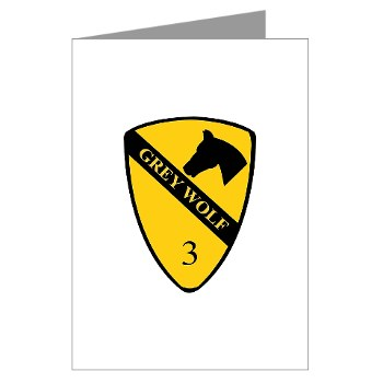 3BCT - M01 - 02 - DUI - 3rd Infantry BCT - Grey Wolf - Greeting Cards (Pk of 10)