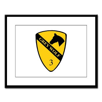 3BCT - M01 - 02 - DUI - 3rd Infantry BCT - Grey Wolf - Large Framed Print