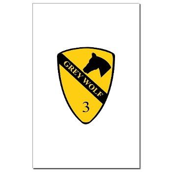 3BCT - M01 - 02 - DUI - 3rd Infantry BCT - Grey Wolf - Mini Poster Print