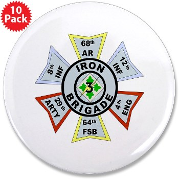 "3IBCTS - M01 - 01 - DUI - 3rd Infantry Brigade Combat Team - Striker - 3.5"" Button (10 pack)"