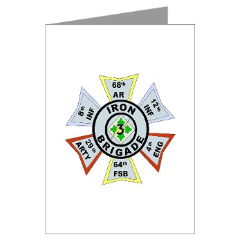 3IBCTS - M01 - 02 - DUI - 3rd Infantry Brigade Combat Team - Striker - Greeting Cards (Pk of 10)