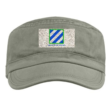 3ID - A01 - 01 - SSI - 3rd Infantry Division with Text Military Cap