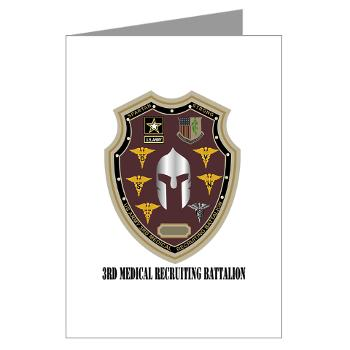 3MRB - M01 - 02 - DUI - 3rd Medical Recruiting Bn with Text Greeting Cards (Pk of 20)
