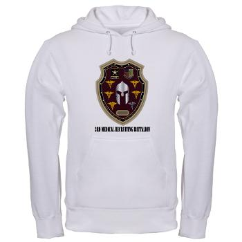 3MRB - A01 - 03 - DUI - 3rd Medical Recruiting Bn with Text Hooded Sweatshirt