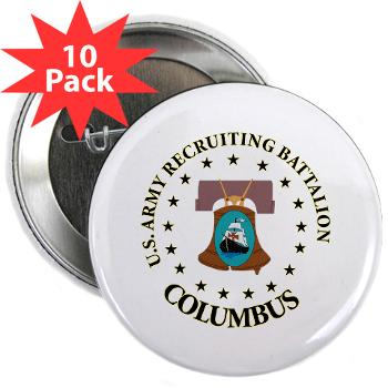 "3RBCRBN - M01 - 01 - DUI - Columbus Recruiting Battalion - 2.25"" Button (10 pack)"