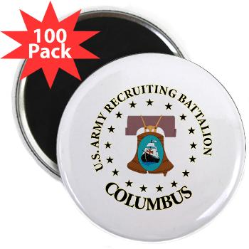 "3RBCRBN - M01 - 01 - DUI - Columbus Recruiting Battalion - 2.25"" Magnet (100 pack)"