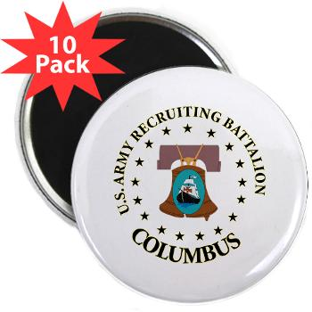 "3RBCRBN - M01 - 01 - DUI - Columbus Recruiting Battalion - 2.25"" Magnet (10 pack)"