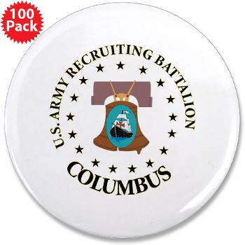 "3RBCRBN - M01 - 01 - DUI - Columbus Recruiting Battalion - 3.5"" Button (100 pack)"
