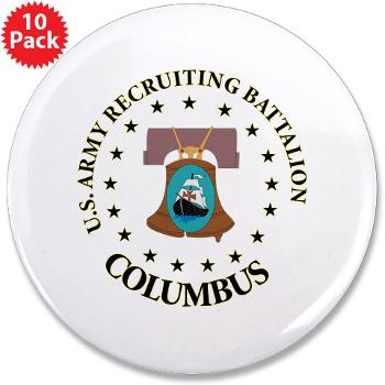 "3RBCRBN - M01 - 01 - DUI - Columbus Recruiting Battalion - 3.5"" Button (10 pack)"