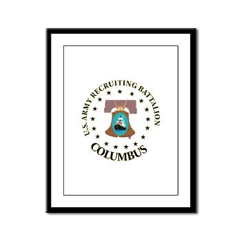3RBCRBN - M01 - 02 - DUI - Columbus Recruiting Battalion - Framed Panel Print