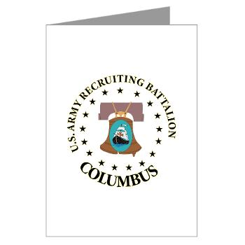 3RBCRBN - M01 - 02 - DUI - Columbus Recruiting Battalion - Greeting Cards (Pk of 10)