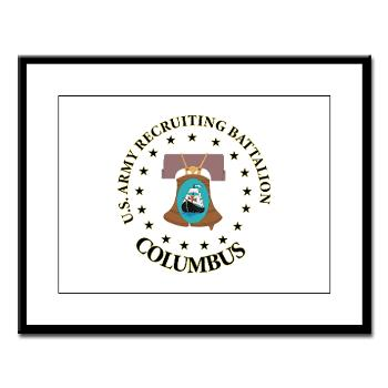 3RBCRBN - M01 - 02 - DUI - Columbus Recruiting Battalion - Large Framed Print