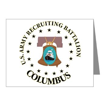 3RBCRBN - M01 - 02 - DUI - Columbus Recruiting Battalion - Note Cards (Pk of 20)