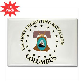 3RBCRBN - M01 - 01 - DUI - Columbus Recruiting Battalion - Rectangle Magnet (10 pack)