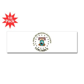 3RBCRBN - M01 - 01 - DUI - Columbus Recruiting Battalion - Sticker (Bumper 10 pk)