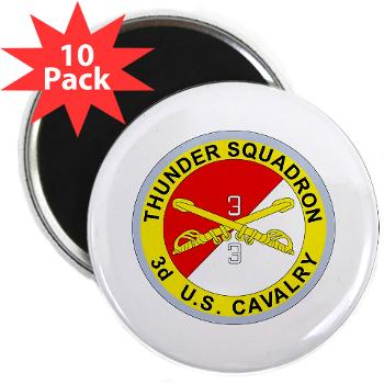 "3S3ACR - M01 - 01 - DUI - 3rd Sqdrn - 3rd ACR 2.25"" Magnet (10 pack)"