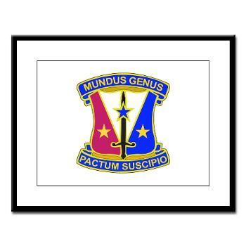 412CSB - M01 - 02 - DUI - 412th Contracting Support Brigade - Large Framed Print