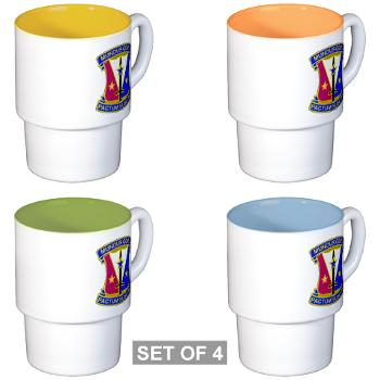 412CSB - M01 - 03 - DUI - 412th Contracting Support Brigade - Stackable Mug Set (4 mugs)