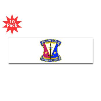 412CSB - M01 - 01 - DUI - 412th Contracting Support Brigade - Sticker (Bumper 10 pk)