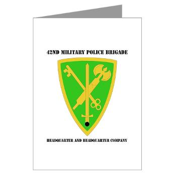 42MPBHHC - A01 - 02 - DUI - Headquarter and Headquarters Company with Text - Greeting Cards (Pk of 20)