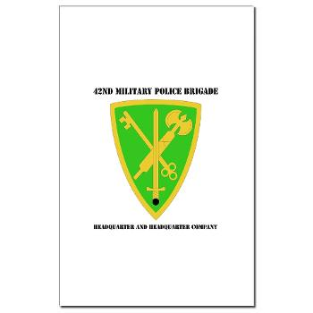 42MPBHHC - A01 - 02 - DUI - Headquarter and Headquarters Company with Text - Mini Poster Print