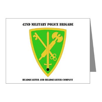 42MPBHHC - A01 - 02 - DUI - Headquarter and Headquarters Company with Text - Note Cards (Pk of 20)