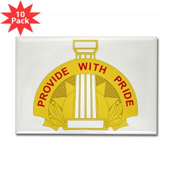 43SB - M01 - 01 - DUI - 43rd Sustainment Brigade - Rectangle Magnet (10 pack)