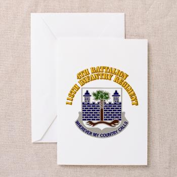 4B118IR - M01 - 02 - DUI - 4th Bn - 118th Infantry Regt with Text - Greeting Cards (Pk of 10)