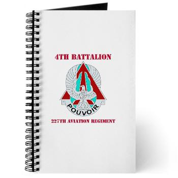 4B227AR - M01 - 02 - DUI - 4th Battalion - 227th Aviation Regt with Text - Journal