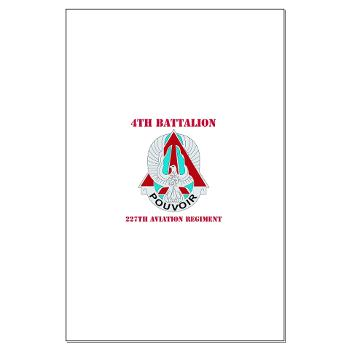 4B227AR - M01 - 02 - DUI - 4th Battalion - 227th Aviation Regt with Text - Large Poster